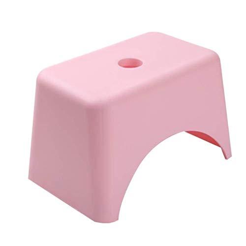 bh+ Hocker Fußhocker Sofa Hocker Kunststoff verdicken Haushalt Wohnzimmer ändern Schuh Bank Bad Hocker einfach zu lagern (Farbe: Pink, Größe: 32 * 19 * 20 cm) -