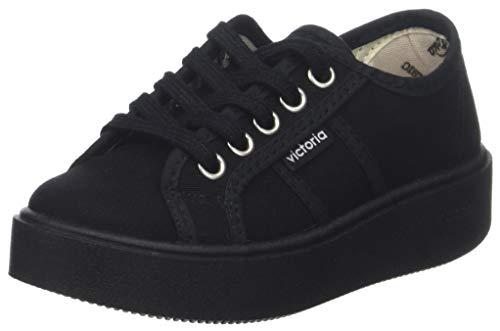 Victoria Basket Lona Piso Negro, Zapatillas para Niñas, 10, 33 EU