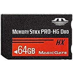 LICHIFIT 64 Go 32 Go 16 Go 8 Go Memory Stick MS Pro Duo Carte mémoire pour Sony PSP High Speed Haute Capacité 64GB