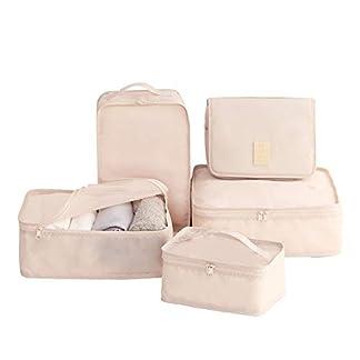 7pcs Organizador De Equipaje Impermeable Organizadores De Viajes para Maletas Bolsas Organizador Maleta Bolsas Almacenamiento De Viaje Conjunto Ropa Interior Zapatos Cosméticos Accesorios