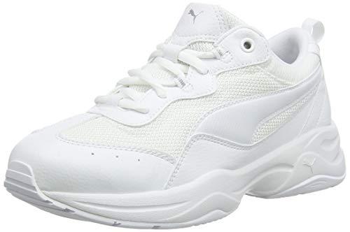 Puma Damen Cilia Sneaker, Weiß (Puma White-Gray Violet-Puma Silver), 38 EU