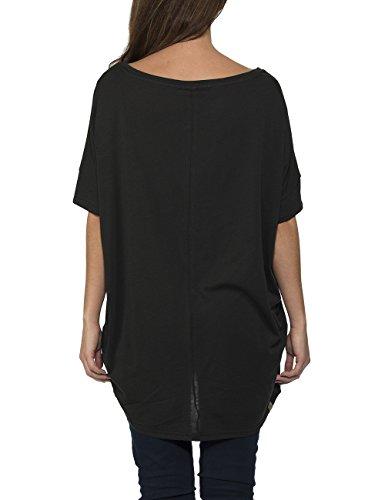 Bench - Outandout, T-Shirt Donna Schwarz (Jet Black BK014)