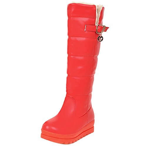 Indossando Stivali Coolcept Invernali Donne Rosso f58qUBw