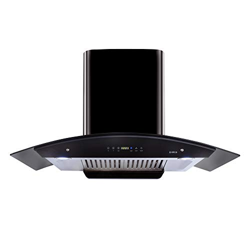 Elica 90 cm 1200 m3/hr Auto Clean Chimney with Free Installation Kit (WD HAC TOUCH BF 90 BK, 2 Baffle Filters, Touch Control, Black (GLOSSY FINISH))