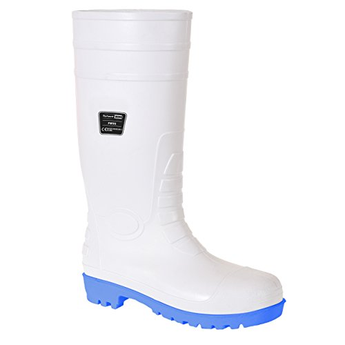 Portwest FW95WHR42 Stivale Total Safety Wellington S5, Bianco, 42 Bianco