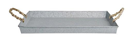 Esschert design Vassoio, Vassoio giardino in grigio in metallo zincato, rettangolari, circa 49 cm x (Design Vassoio)