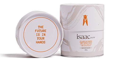 isaac nutrition Insektenmehl I Superfood isaac pure I 250g, Naturbelassen I Nachhaltige und Gesunde Proteinquelle, 15 Vitamine und Mineralstoffe