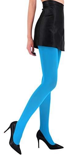 CozyWow Blickdicht Damen Strumpfhose Elastisch Semi Stützstrumpfhose in 13 Farben (Blau, S) - 3