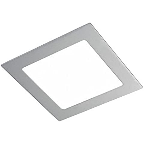 CristalRecord 02-107-12-181 - Foco downlight, LED extraplano, cuadrado, 12 W, luz neutra, 4000° K color gris