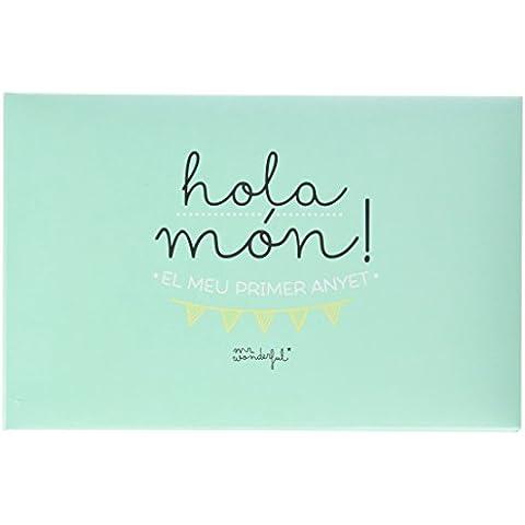 Mr.Wonderful - Álbum para bebé ¡Hola mundo! Mi primer añito con contenido en Catalán