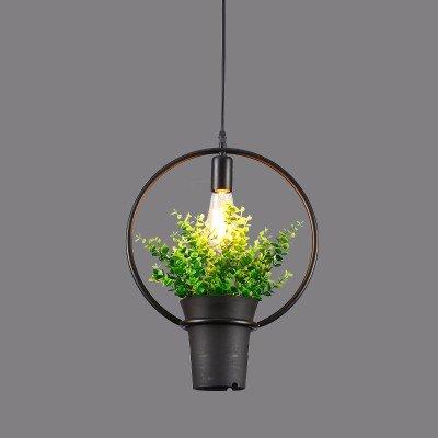 KAI Leuchten Lustres plafonnier/pendentif lumière/Lampe Suspension le fer forgé, les plantes industrielles des pots de fleurs, de vent, de style américain feux à manger, seul chef, originalité, moderne de simplicité, nordic éclairage, sans source de lumière, de diamètre 30 cm