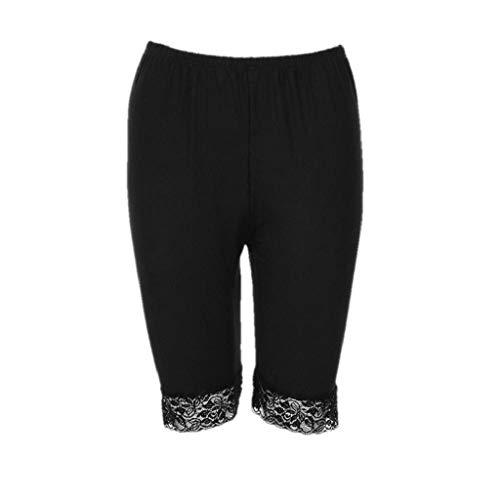 Sexy Frauen Shorts, Zolimx Frauen Plus Size Mid Taille Lace Hot Shorts elastische Sporthosen