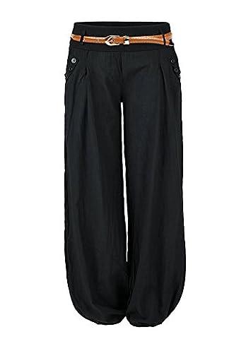 Manteau Brillant - Aitos Femme Pantalon Fluide Culotte Bouffante Elastique