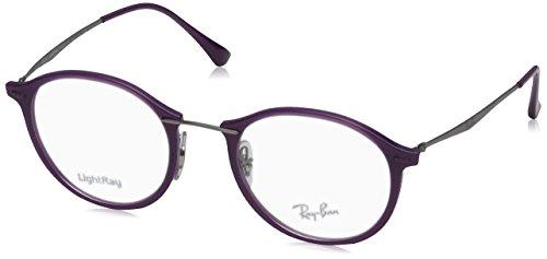 Ray-Ban Unisex-Erwachsene Brillengestelle 7073 lila(purple), 49 (Ray-ban Rx Wayfarer)