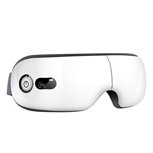 Elektrische Augenmassagegerät Maske Musik Kopfschmerzen Stressabbau Faltbare Maschine für Auge Entspannen Sie sich mit 3 Modi Luftdruck, Wärmekompression, Vibrationsmassage
