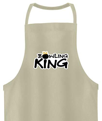 Bowling King König - Hochwertige Grillschürze -Einheitsgröße-Beige