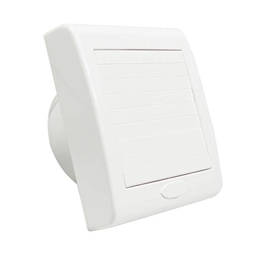 Ventilateursde salle de bain Cuisine Salle De Bain Extracteur 6 Pouces En Plastique Imperméable Silencieux Ventilateur D'extraction Ventilateur Carré Ventilateur Ventilateur Blanc Ventilateur D'extrac