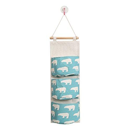 Kleber-beutel (beiguoxia 3Wandregal Flamingo Bär Print Wand zum aufhängen von Kleidung Storage Bag Pouch Organizer, 6#, Einheitsgröße)