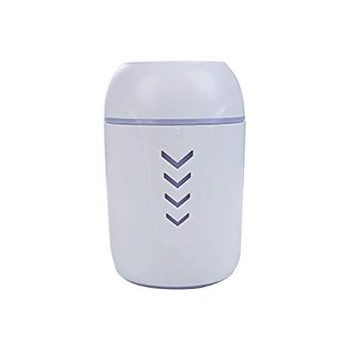 QUICKLYLY Humidificador Aromaterapia Difusor Aceites Esenciales Ultrasónico Pequeño Radiador Esencias Purificar Aire Humectador Portátil Mini Hogar USB Purificador Atomizador Aire Blanco