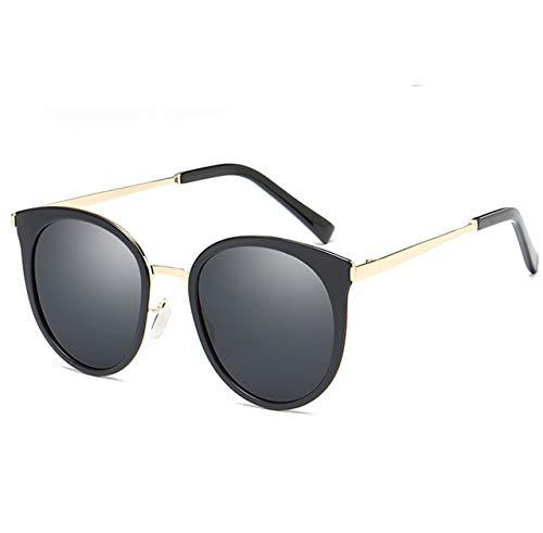 CFLFDC Sonnenbrillen Frauenshade Hut Brille Klassische Designerin Sonnenbrille Mode Stil Polarisiert Schwarz-gerahmte schwarzgraue Scheiben