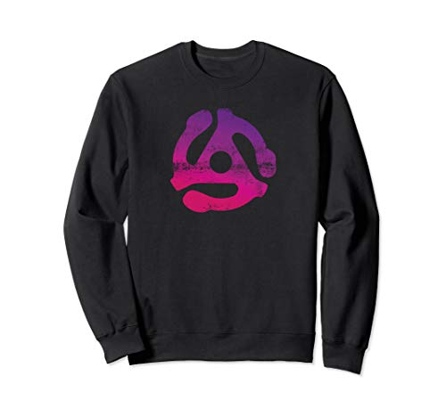 45 RPM Schallplatten pink Adapter Damen Geschenke Sweatshirt Adapter Sweatshirt
