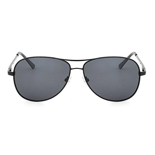 Klassische Männer Kostüm - Neue Polarisierte Sonnenbrille Pilot Männer Kostüm Designer Klassische Schutz Metall Sonnenbrille Fahren Gläser UV400 Accessoires (Color : Black Gray)