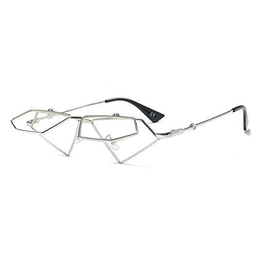 Thirteen Mode Unregelmäßigen Flip Sonnenbrillen - UV400 Schutz - Metallrahmen - Ideal Zum Autofahren Städtetouren Frauen Sonnenbrille (Color : F)