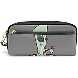 Bonie - Estuche para lápices de dibujos animados de Alien, bolsa para artículos de papelería escolar, bolsa de maquillaje