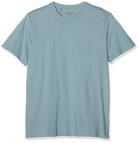 Jacamo Herren Crew Neck Regular T-Shirt, Blau (Duck Egg 001), Large - Duck Herren T-shirt