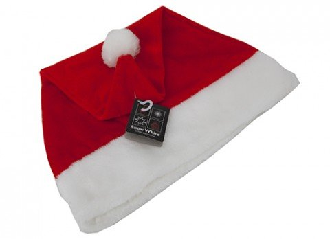 3 x Snow White - Deluxe Velour Adult Christmas Santa Hat One Size