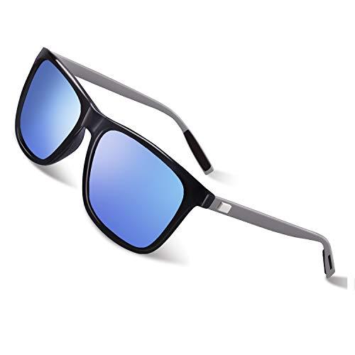 GQUEEN Polarisierte Sonnenbrille Al-Mg Metallrahme Ultra leicht Damen Herren GQ33
