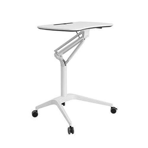 Tepo- table Pneumatischer höhenverstellbarer mobiler Laptop-Schreibtisch mit Stehhilfe, klappbarer Laptop-Wagen, Heimarbeitsplatz für Klassenzimmer, Büros und Privathaushalte,B