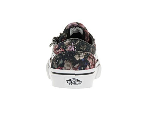 Vans Donna Gunmetal Nero Old Skool Zip Sneakers Moody Floral