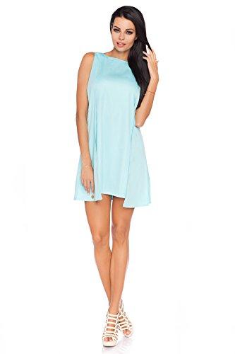 Futuro Fashion Damen ärmelloses Skaterkleid Mini Smart und Sexy Wunderschön Schmeichelnd Form Polyester Größe EU 36-42 FA427 Grün - Mint