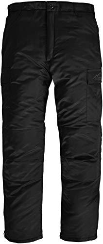Winter Thermohose gefüttert Winter Pants verstärkt und mit Dehnfalten für Herbst und Winter Farbe Schwarz Größe L