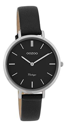Oozoo Vintage Damenuhr Lederband 34 MM Schwarz/Schwarz C9818