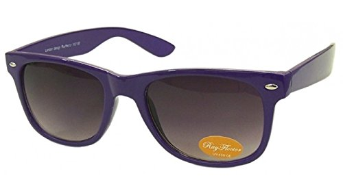 Purple Retro Fashion Designer Geek Nerd NHS Big Rave Party Brille groß Wayfarer Hot (groß)