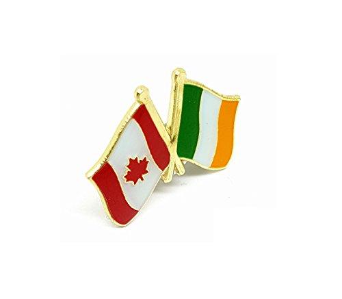 Shopiyal Anstecknadel für Freundschaftsflagge Kanadisches Ahornblatt Unifolié und die Flagge Kanadas Irische Flagge, Doppel-Duo, gemischte Nationalflaggen, Metall, Emaille -