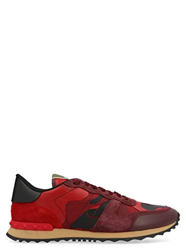 Valentino Herren Sy2s0723tccr30 Rot Leder Sneakers