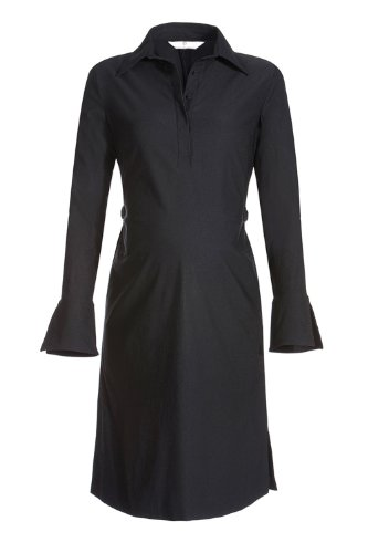 Bellybutton Damen Umstandsmode Kleid, 267, Leila Schwarz (Black)