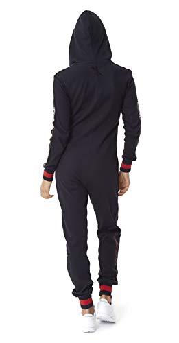 OnePiece Damen Jumpsuit Unisex Pit Crew, Schwarz (Black), Medium - 2