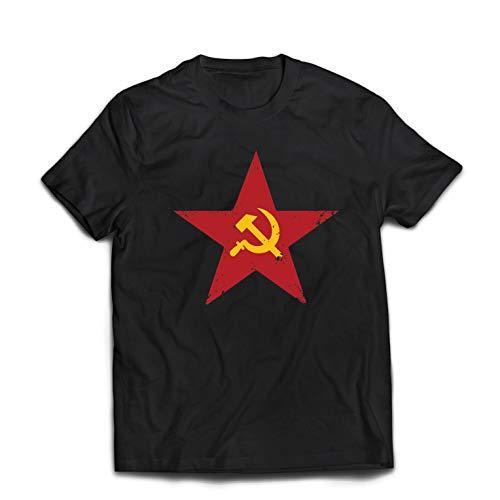 Lepni.me Camisetas Hombre URSS СССР La Hoz Martillo