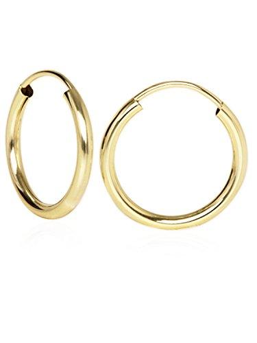 MyGold Damen-Creolen Ohrringe Gelbgold 333 Gold (8 Karat) Ø 15mm Goldcreolen Ohrschmuck Leyla C-04113-G301-15mm/2mm