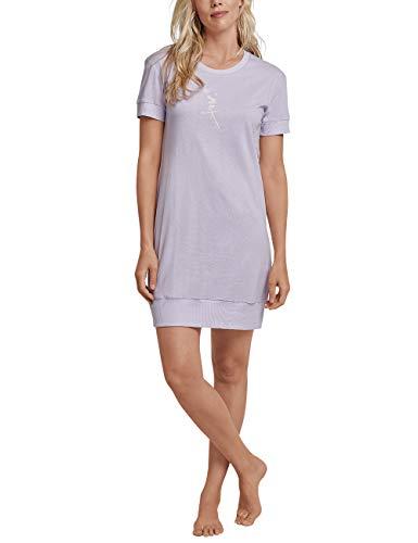 Schiesser Damen Sleepshirt 1/2 Arm, 90cm Nachthemd, Blau (Lavendel 809), 40 (Herstellergröße: 040) - Polo Nachtwäsche