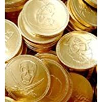 30 x Gold Foil Pirates Themed Milk Chocolate Money Coins Loot