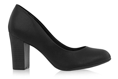 Piccadilly  PICCADILLY 690068, Sandales Compensées femme Noir - noir