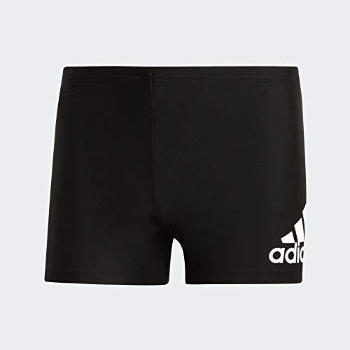Adidas Badge Fitness Boxer-Badehose M Bañador, Hombre, Negro Black/White, 4