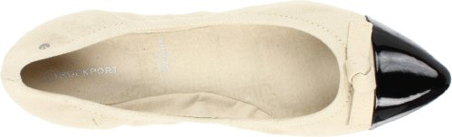 Rockport Helena Nudo Tie K60156, Bailarina Donna Avorio (marfil (negro / Crema))