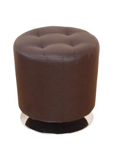 Heinz Hofmann 4442.CPBR Lounge-Sitzhocker  Kunstleder  Moccafarben  Höhe 45 cm, Durchmesser 43 cm