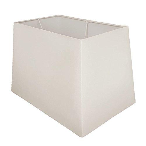 43,2cm weiß Tischlampe, rechteckig, Schatten (Lampe Schatten Rechteckigen)